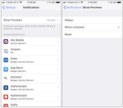 Cara Menyembunyikan Notifikasi / Pemberitahuan Sensitif Dari Layar Kunci iPhone Anda, Begini Caranya