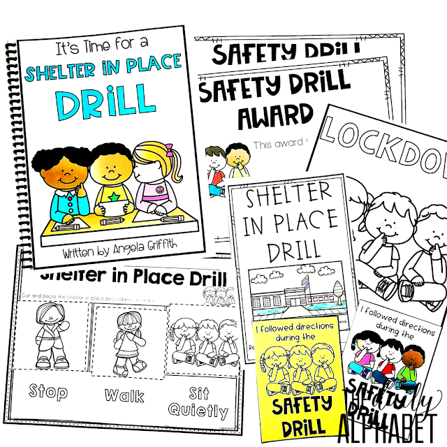 Lockdown safety drills and procedures are important skills to practice during the first few weeks of school. This pack contains easy to implement activities and read alouds to make it so much easier!