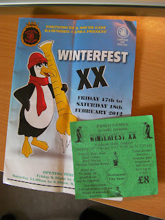 portsmouth beer festival winterfest ticket and programme