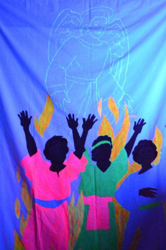 Bible Class Creations Fiery Furnace Blacklight