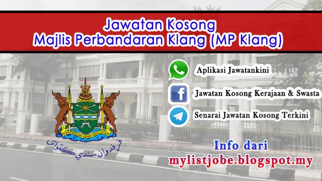 Jawatan Kosong di Majlis Perbandaran Klang (MP Klang)