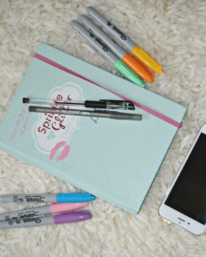 Sprinkle of glitter diary and stationary