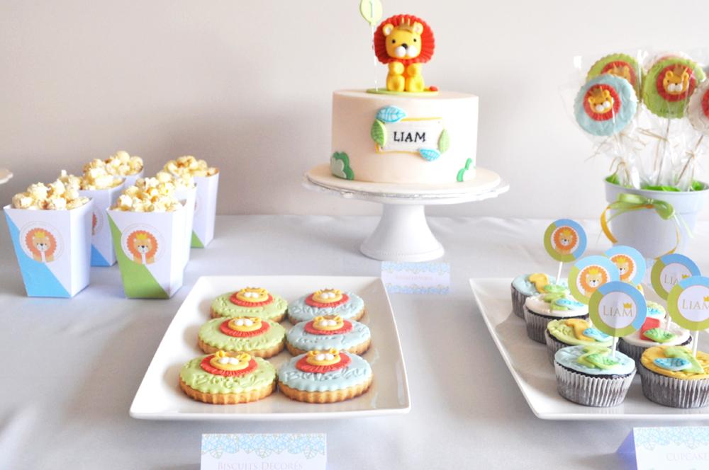 decoration anniversaire kit petit lionceau