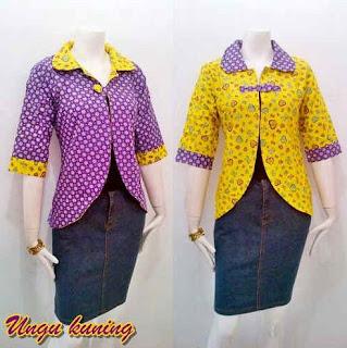 Baju Batik Atasan dan Bawahan 2 Motif