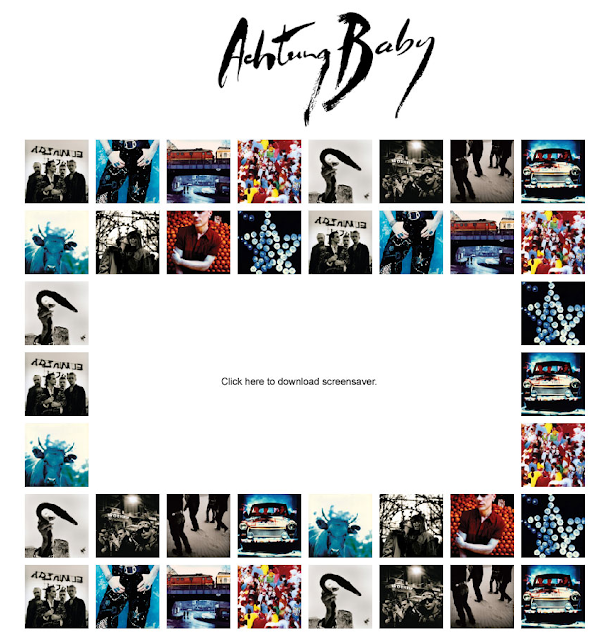 Achtung Baby screensaver
