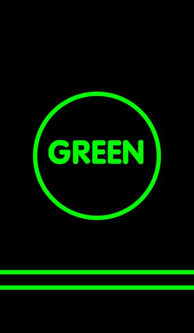 -Green & Black -