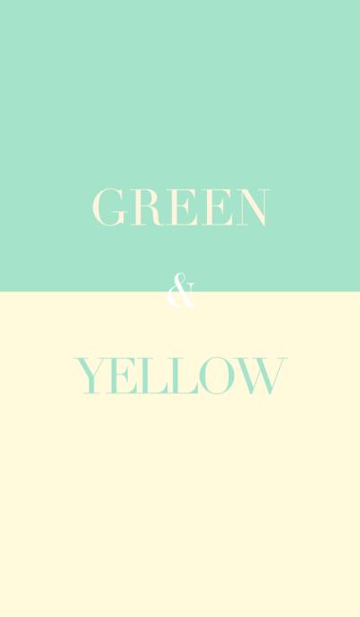 green & yellow .