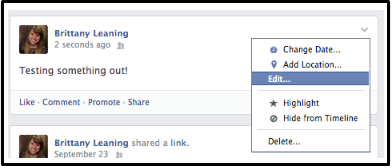 How to Edit a Facebook Post