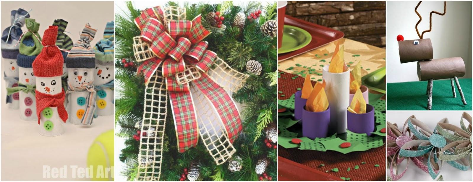 Decora En Esta Navidad Con Rollos De Papel Higienico Reciclados - Manualidades-con-rollos-de-papel-higienico-para-navidad