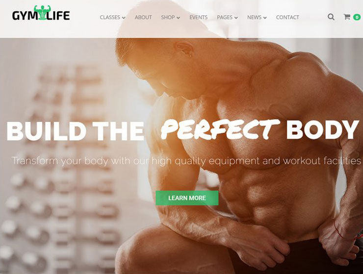 GymLife - Gym & Fitness WordPress Theme