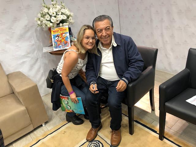 Tailaina Godoi e Mauricio de Sousa Turma da Mônica Campinas