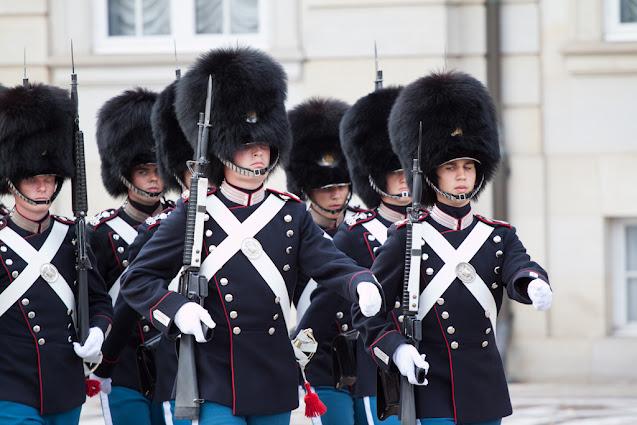 Cambio della guardia a palazzo reale-Copenhagen