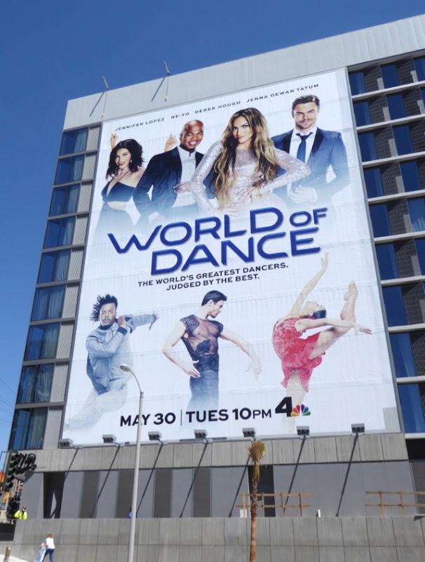 Giant World of Dance series launch billboard