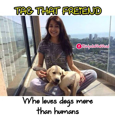 Tag that friend who loves dogs more than humans
