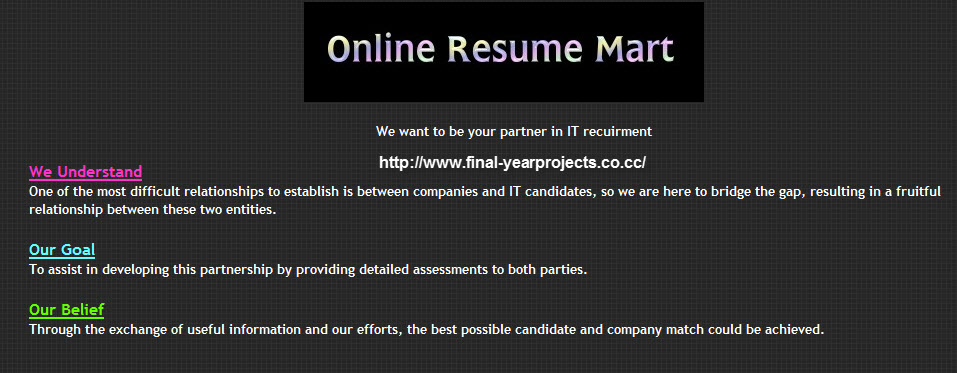 source code online resume mart dot net project