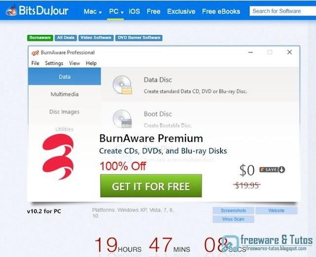 Offre promotionnelle : BurnAware Premium gratuit !