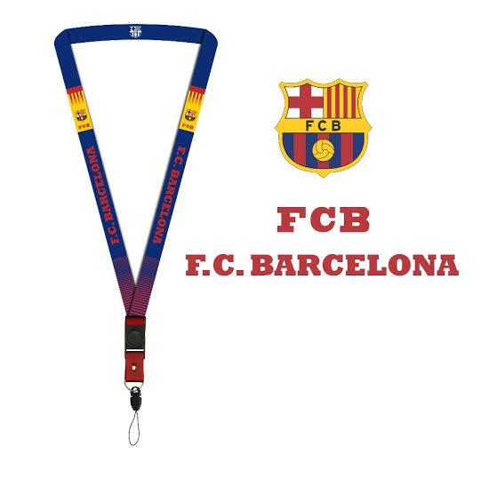 Tali lanyard murah desain barcelona