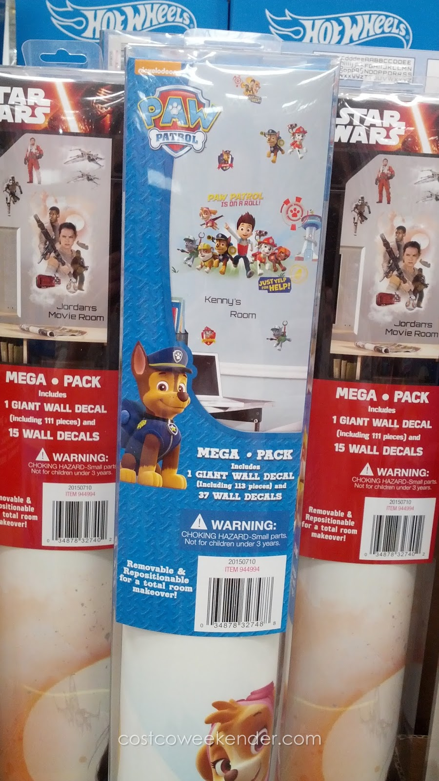 Roommates Mega Pack Peel And Stick Wall Decals Costco