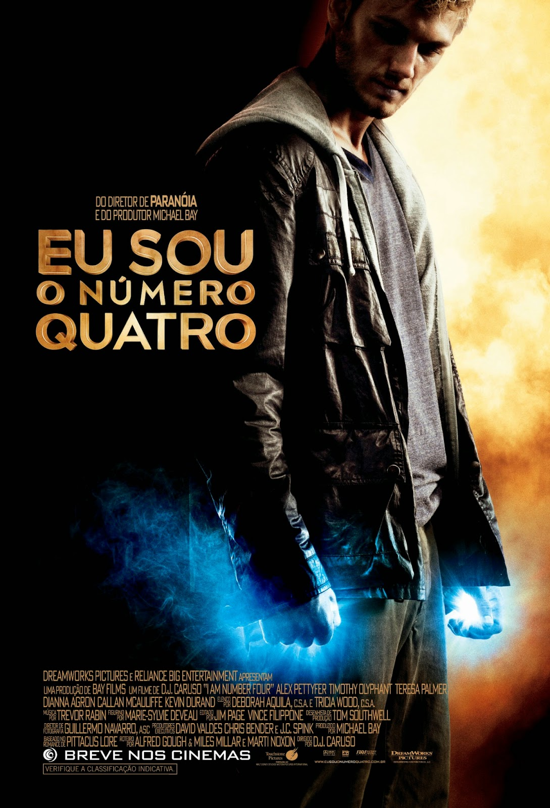 Poster do filme Eu sou o número quatro