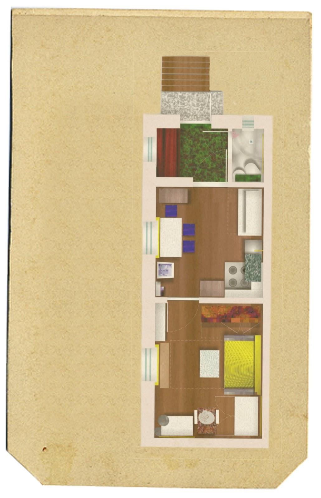małe mieszkanie i studio twórcze w jednym RoomToLove