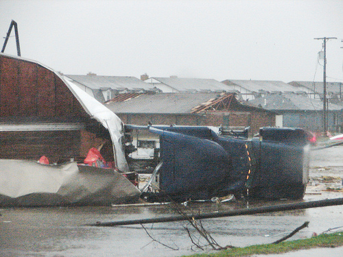 American News Broadcasting: Mile Wide Tornado's Rip Threw Midwest