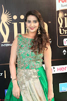 Manjusha in Beautiful Sleeveless Green Anarkali dress at IIFA Utsavam Awards 016.JPG
