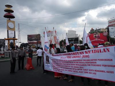 Aksi Solidaritas untuk Yogi Andika, Bacakan Lima Butir Tuntutan Demi Keadilan