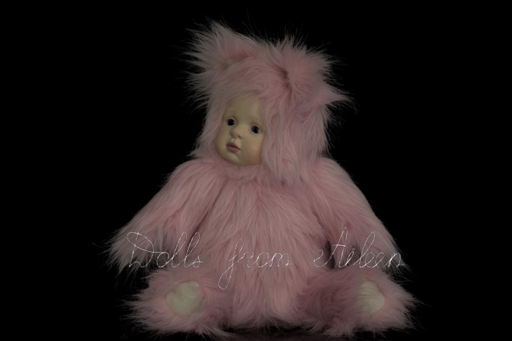 ooak artist kitten teddy doll looking to the side