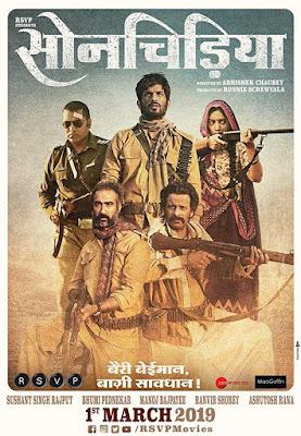Poster Sonchiriya 2019 Hindi HD 720p
