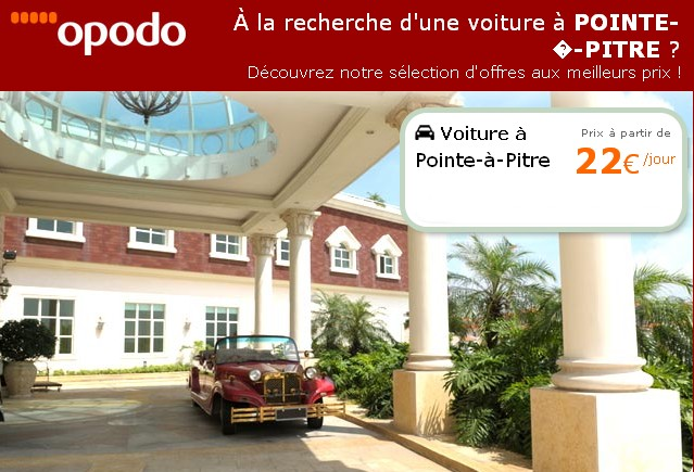 location voitures a roport pointe pitre 20 euros air bons plans promos. Black Bedroom Furniture Sets. Home Design Ideas