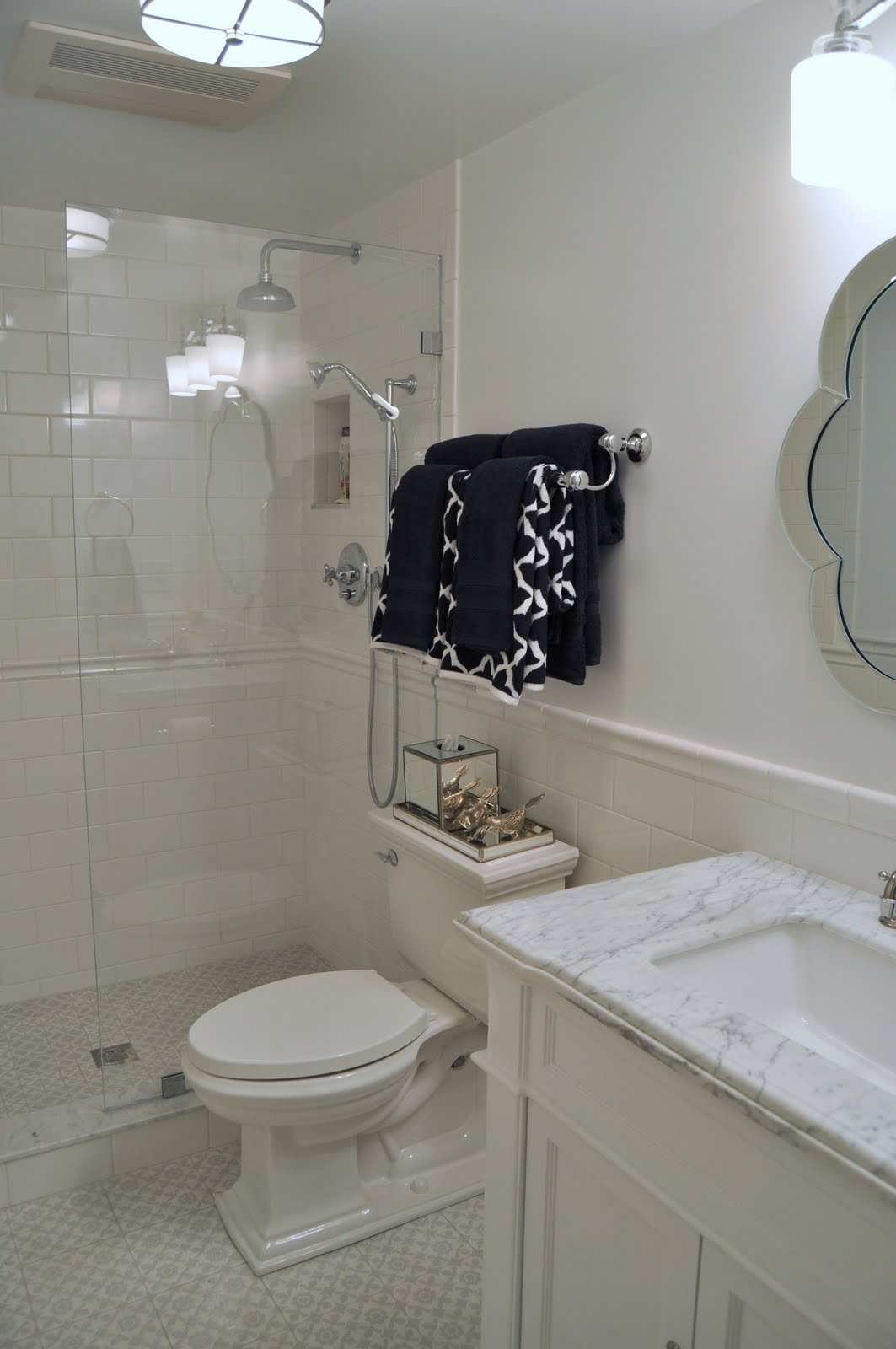 Classic white and grey bathroom reveal dailygadgetfo Gallery