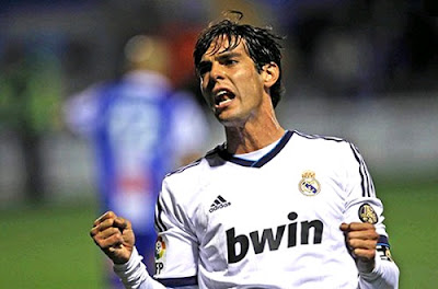 Kaka celebrates his goal against Alcoyano