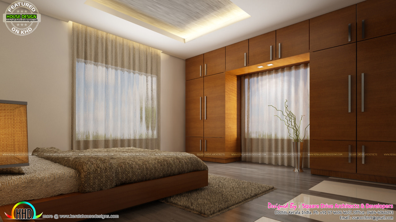 Living room ladies sitting and bedroom interiors kerala for Interior designs for sitting rooms
