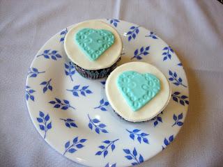 Cupcakes decorados con corazones