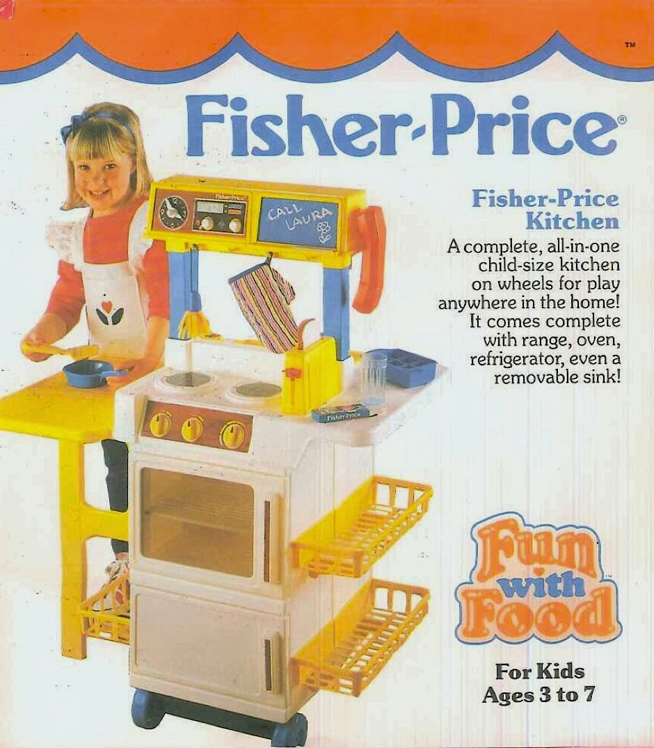 Fisher Price Play Kitchen: Fisher Price Fun With Food: Retro Toy Food (1988)