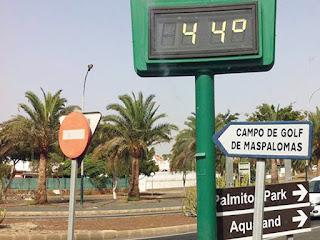 Canarias  con los municipios de más calor en España , 10 agosto