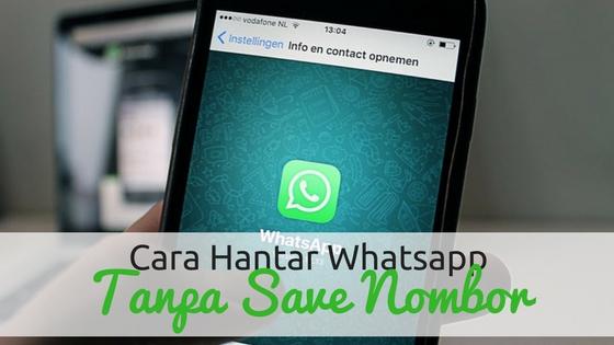 Cara Whatsapp Tanpa Save Nombor Telefon