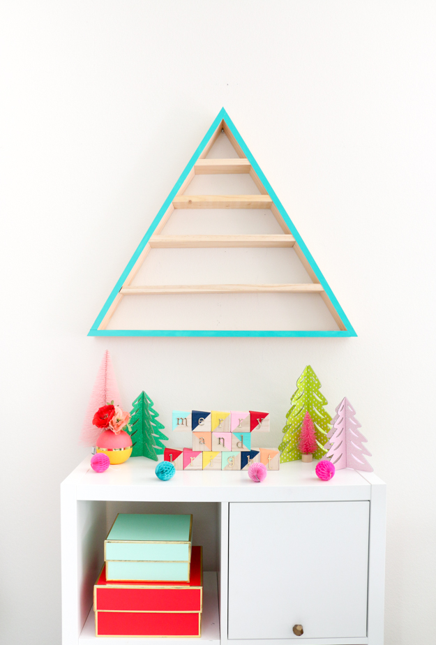DIY Advent Calendar - Wooden tree - modern wooden tree advent - craft - build - wood working - target - ornament tree - ornament advent kids