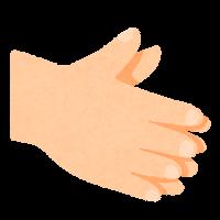 手指消毒のイラスト2
