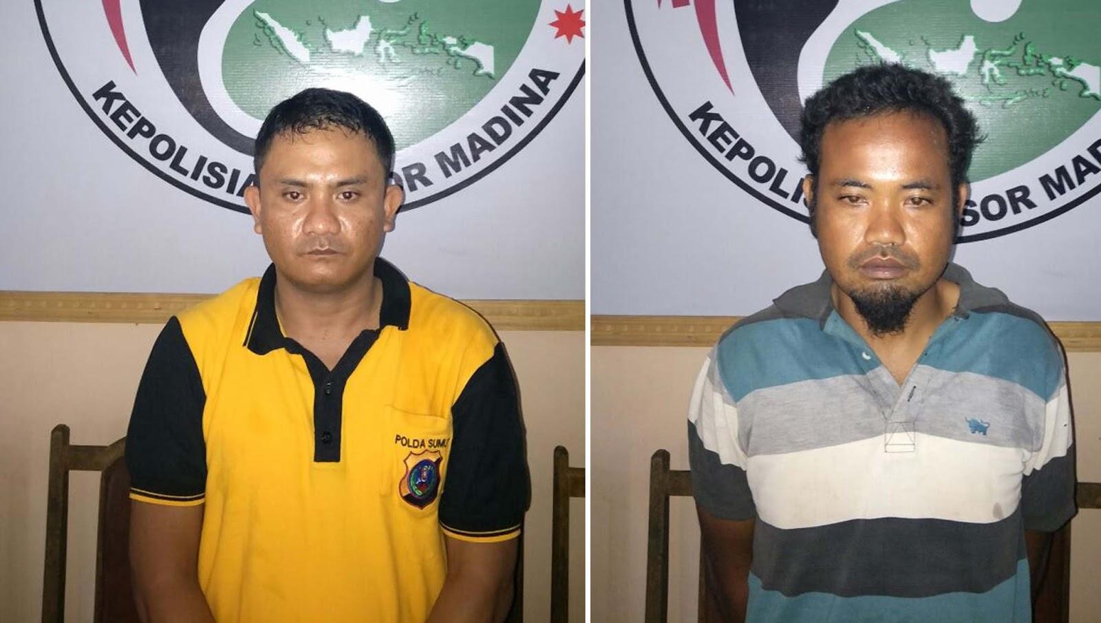 tersangka narkoba di Madina yang ditangkap polisi.