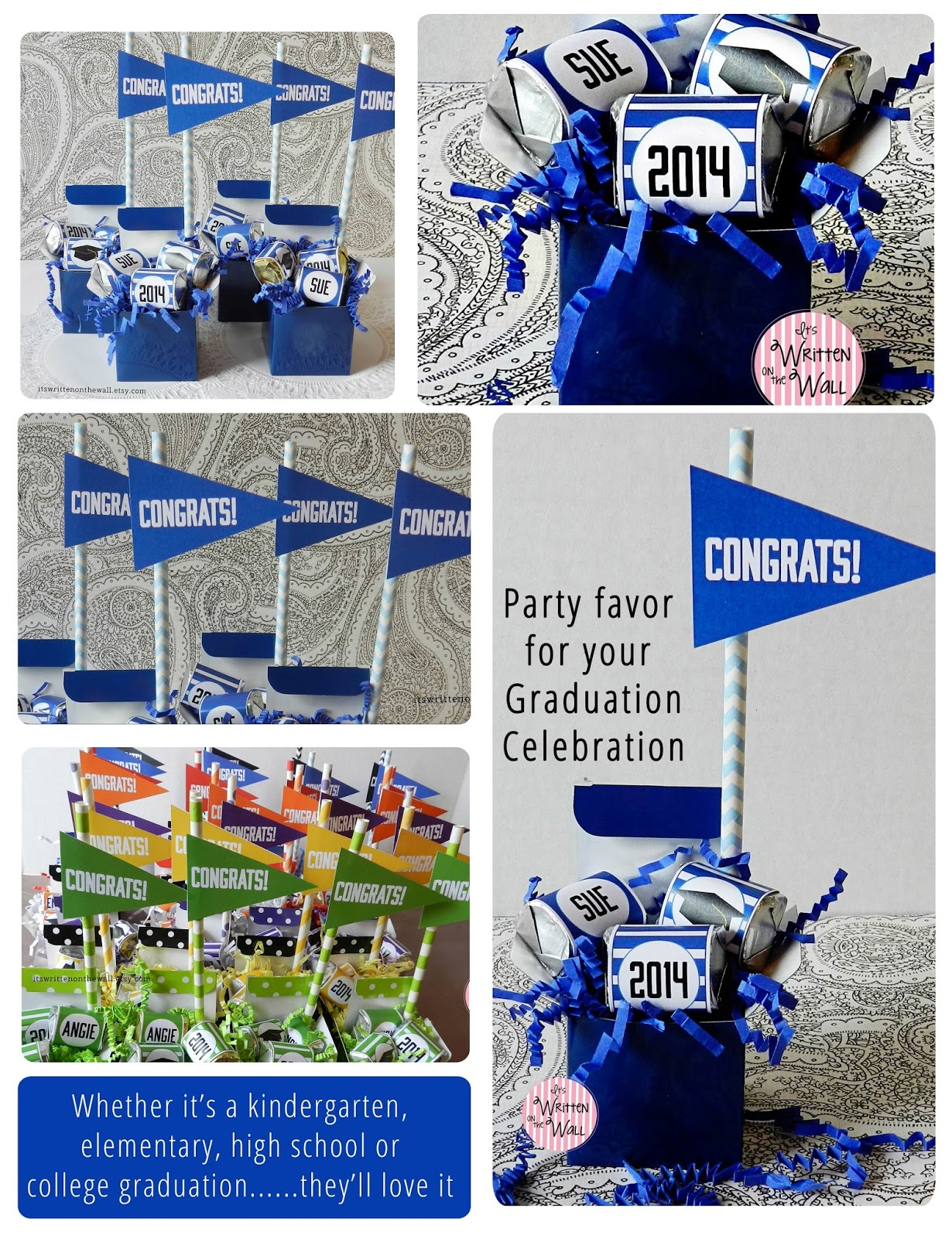 Its Written On The Wall Unique Graduation Party Favor Ideas