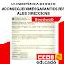 La insistència de CCOO aconsegueix més garanties per a les direccions