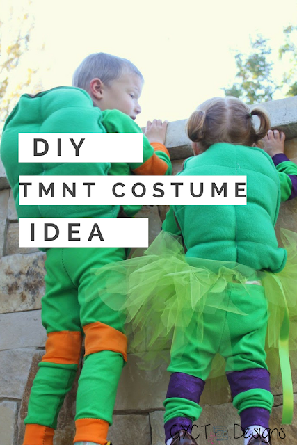 Teenage Mutant Ninja Turtle costume tutorial and pattern for Halloween or dress up