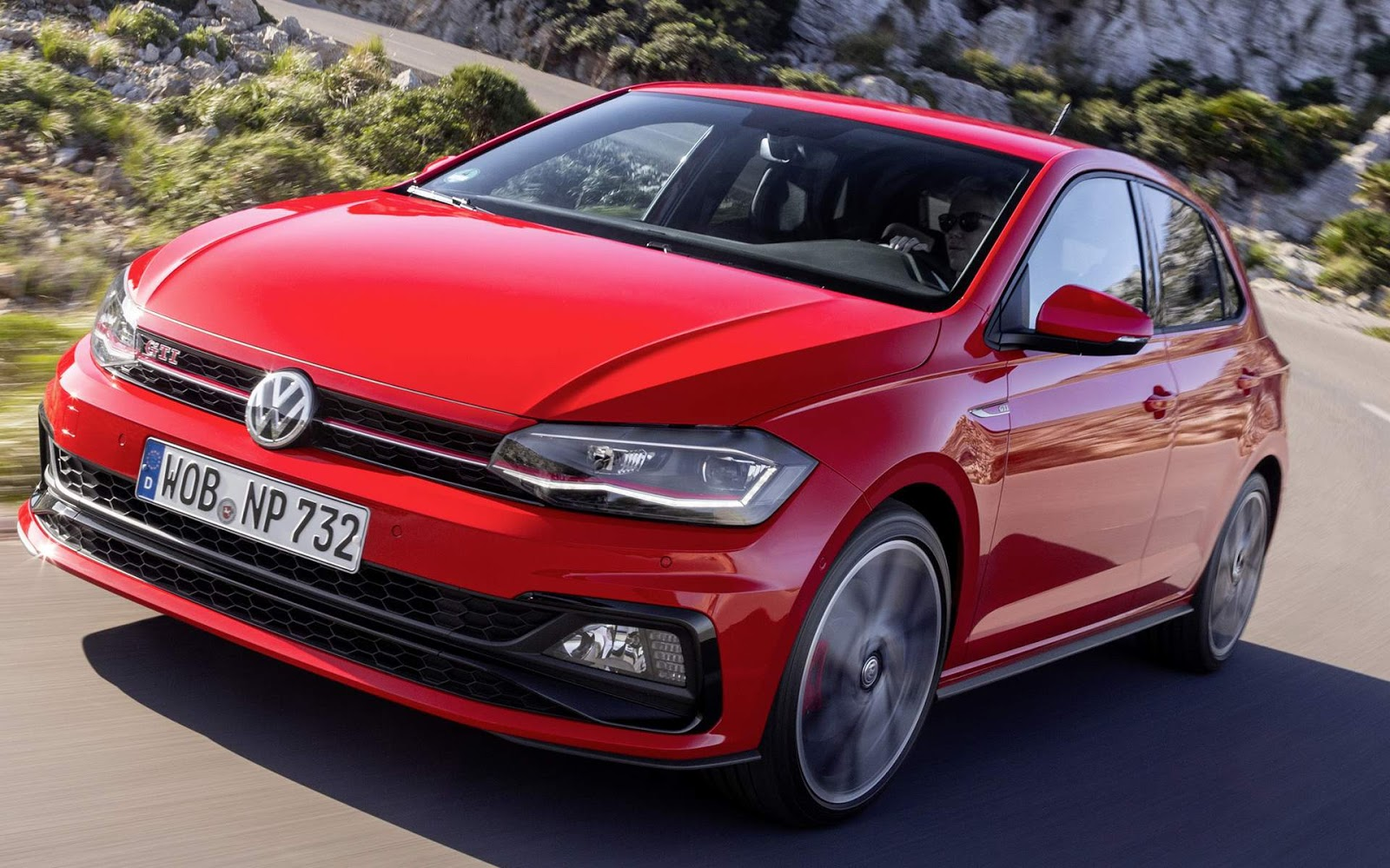 vw polo gti 2018 fotos e especifica es oficiais europa muito mais carros. Black Bedroom Furniture Sets. Home Design Ideas