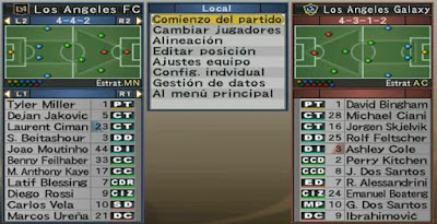 PES 6 Option File MLS & Other Latin American Teams Season 2017/2018