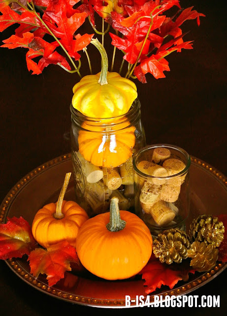 Thanksgiving Centerpiece, Autumn Home Decor