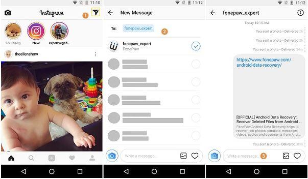 Cara Menggunakan Mengirim Pesan DM Instagram Melalui PC ...