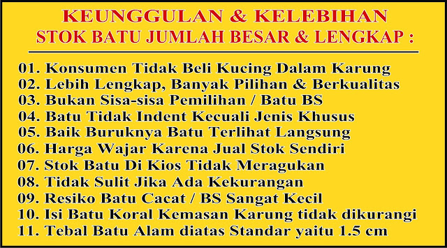 Agen Batu Alam Depo Stone, Pondok Aren, Bintaro, Tangerang Selatan, Tangsel