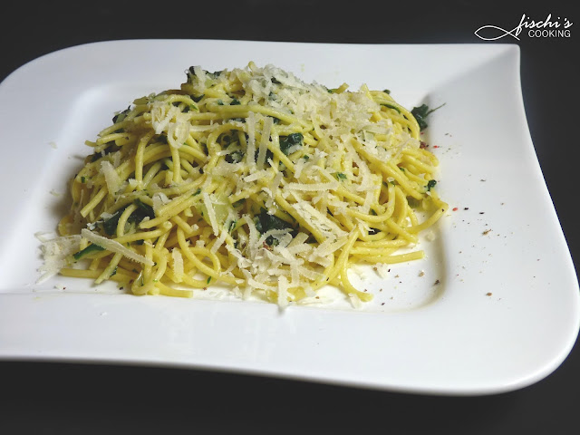 fischiscooking, spaghetti bärlauch