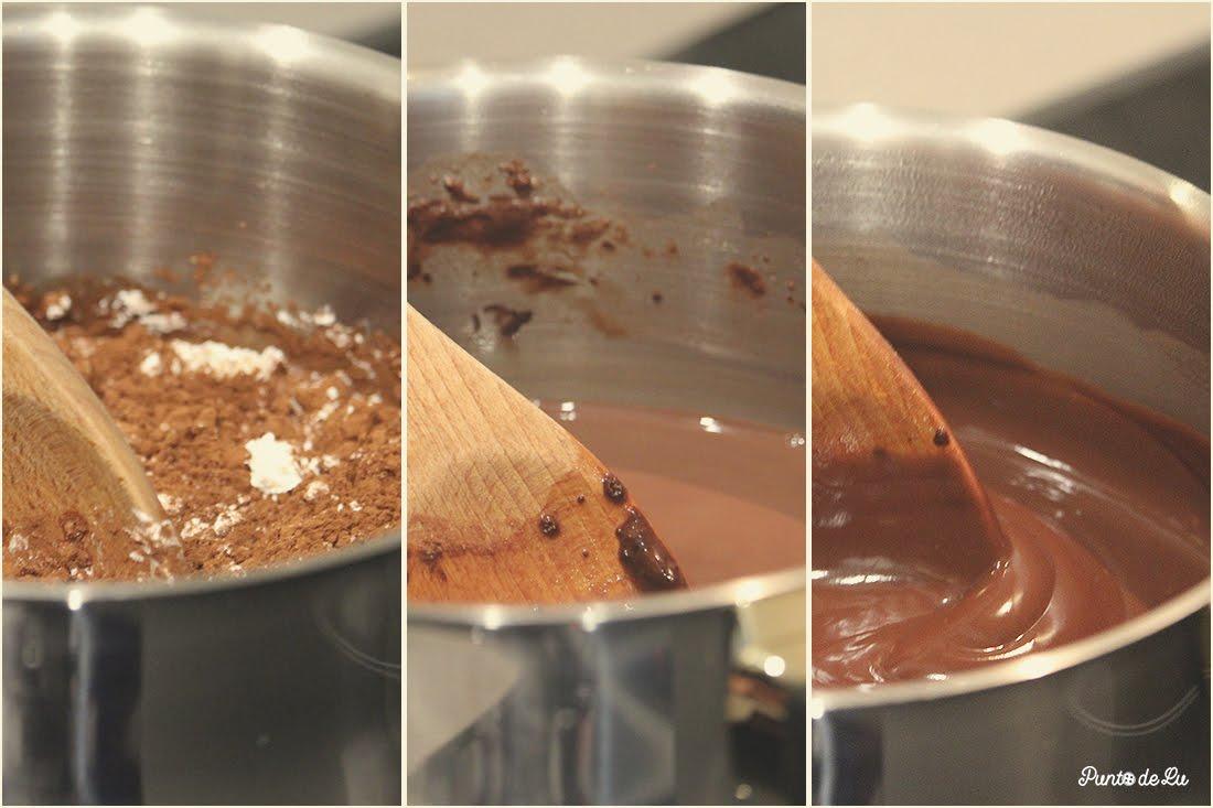 Receta para hacer natillas de chocolate